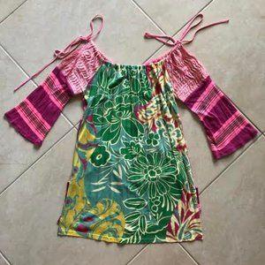 Vibrant Custo Floral Mini Dress